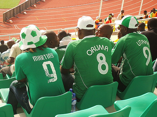 Supporter nigérians au Ghana en 2008 - Photo : Oluniyi David Ajao, Flickr